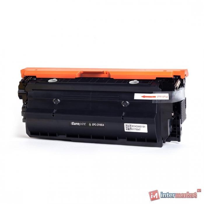 Картридж, Europrint, EPC-CF450A, Чёрный, Для принтеров HP Color LaserJet M652/653/M681/682, 12500 страниц.