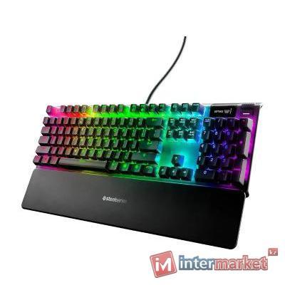 Клавиатура, Steelseries, Apex 7 (Red Switch) RU, 64642 Игровая, Механические клавиши QX2, USB, Подсветка RGB, Размер: 16037035 мм., Анг/Рус, Чёрный